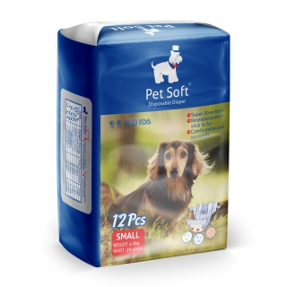 Pet soft disposable diapers S